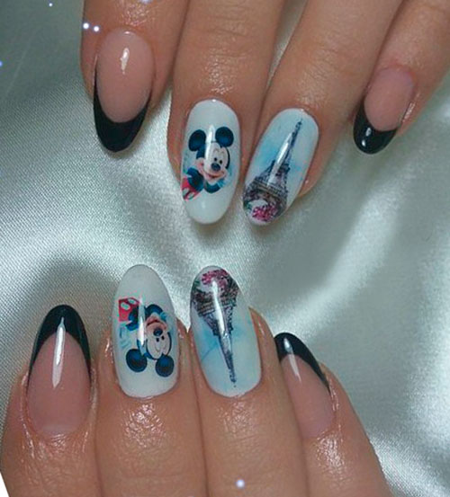 Пример слайдер дизайна на ногтях