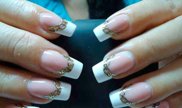 Литье на ногтях (фольга на гель)
