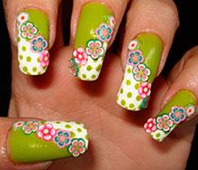 Фимо-декор на ногтях