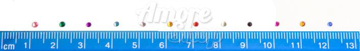 Стразы для декора ногтей кружечки разноцветные