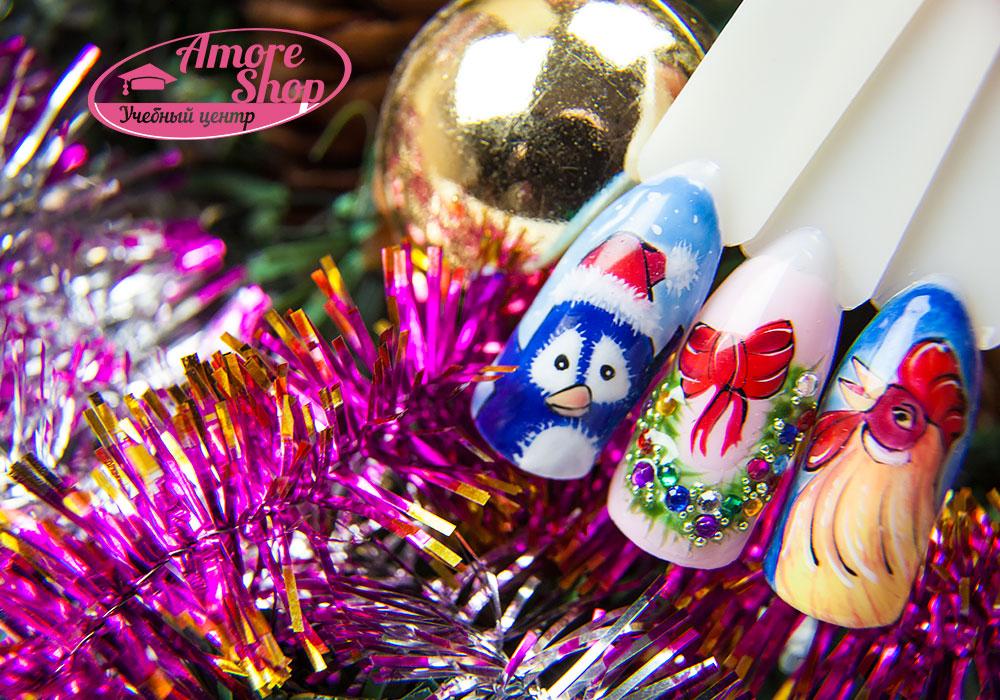 Юля Шматуха Новогодняя сказка гель-лаками