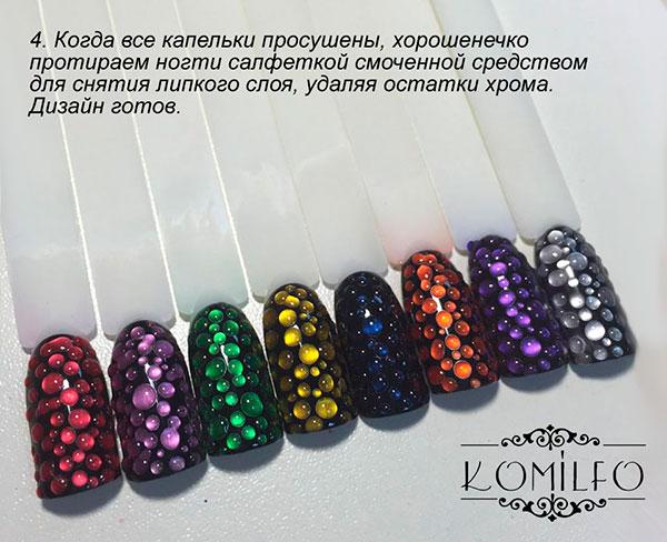 Дизайн ногтей гелем капельками 19