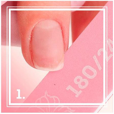 Обработка натуральных ногтей пилочкой