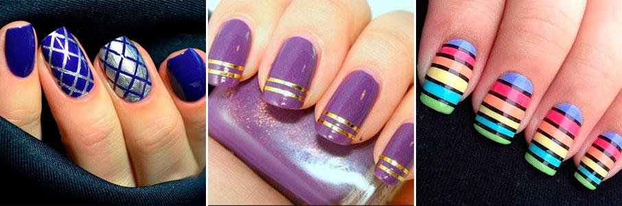 Примеры нэйл-арта и использованием нити для ногтей