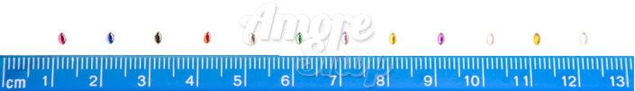 Стразы для декора ногтей зернышки разноцветные