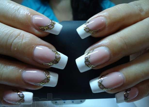Литье на ногтях (фольга на гель).  С помощью переводной фольги для ногтей можно сделать следующие дизайны.