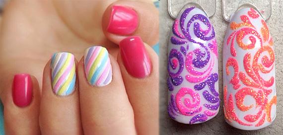 Дизайн ногтей карамель