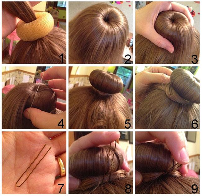 Как сделать шишку с помощью резинки ребенку