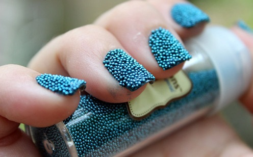 Маникюр с бисером для ногтей (Бульонки для дизайна ногтей)